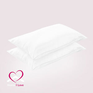 100%Mulberry Silk White Pillowcases Set of 2 Rejuvenate Skin&Hair Anti Ageing