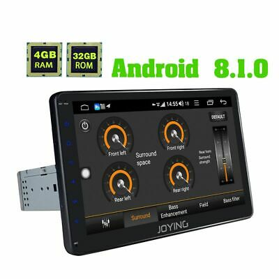 DE JOYING 10.1 Zoll 1 Din Android Autoradio Car Media Player 1024*600 4G Module Auto Media