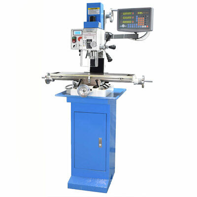 Pm-25mv Vertical Bench Top Milling Machine Wstand 3-axis Dro Free Shipping