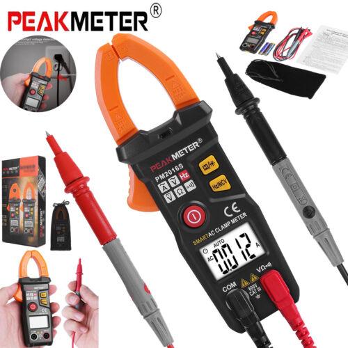 PEAKMETER PM2016S Digital Clamp Multimeter Amp Meter OHM AC DC Volt Tester Probe