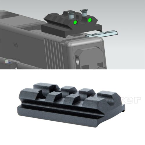 Glock Sight Rail Mount Plate Fit Glock 17 19 22 23 26 for Red Dot Sight