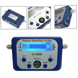 Satellite finder meter signal strength dish sat directv compass ebay