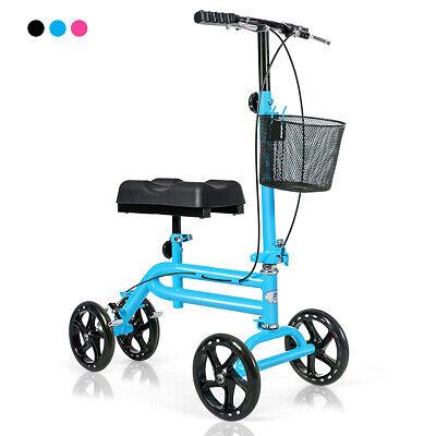 Steerable Knee Walker Deluxe Medical Knee Scooter w/ Dual Br