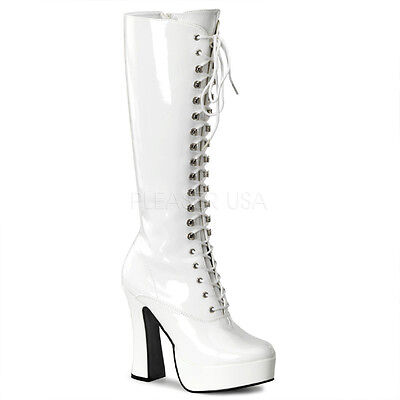 Pleaser ELECTRA-2020 Women's Knee Boot Lace up 5