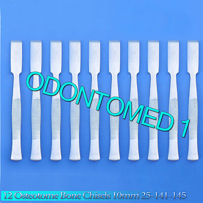 12 Osteotome Bone Chisels 10mm Surgical Orthopedic Instruments 25-141-145
