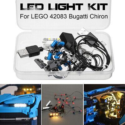 LED Beleuchtungs Set NUR Für LEGO 42083 Bugatti Chiron Technic USB-Schnittstelle (Usb Lego)