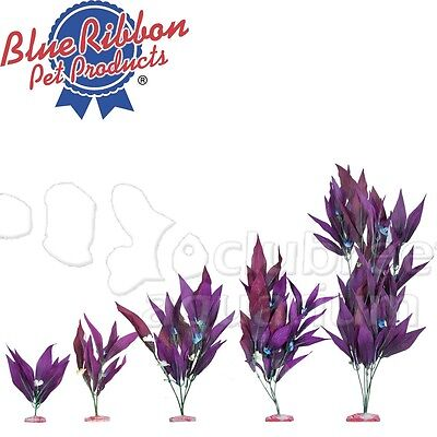 African Sword Silk-Style Purple Cloth Aquarium Plant ColorBurst Sizes Mini - XLg ()
