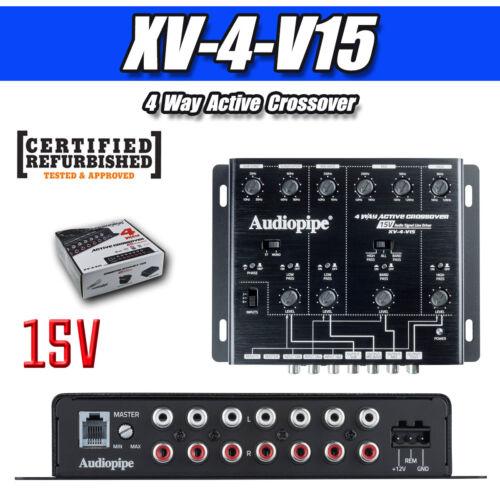 Audiopipe 4 Way Active Crossover 15V ( XV-4-V15 ) RF