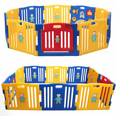 Baby Playpen Kids 8 Panel Safety Play Center Yard Home Indoor Outdoor Pen New