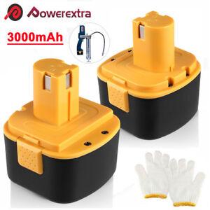 2x 12V Battery For Lincoln PowerLuber 12 Volt Grease Gun LIN-1201 1200 1240 1242
