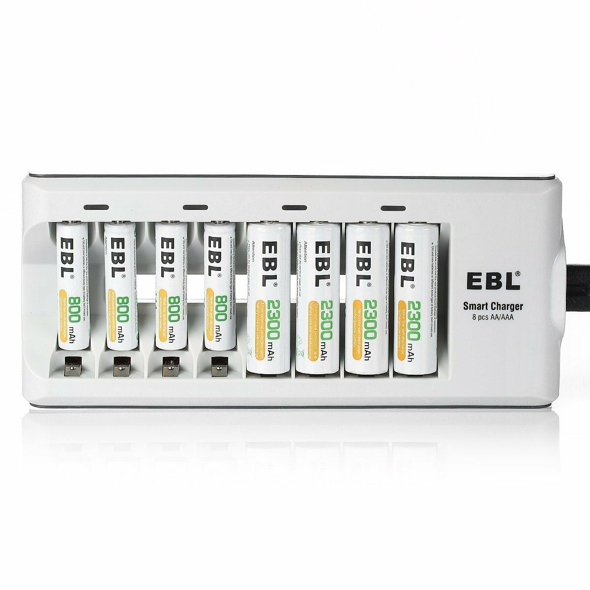 EBL 8 Slot Battery Charger For Ni-MH Ni-CD AA AAA Rechargeable Batteries