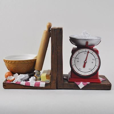 Baking Shelf Tidy Book Ends - Heavy Vintage Storage Hipster Office Study CDs
