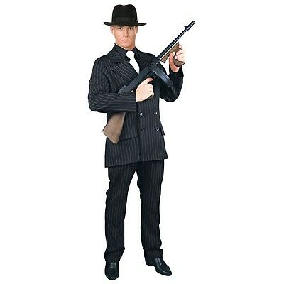 Gangster Costume Adult 20s Mobster Suit Al Capone Halloween Fancy Dress