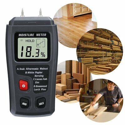 0-99.9 Digital Wood Moisture Meter Humidity Tester Timber Damp Hygrometer Us