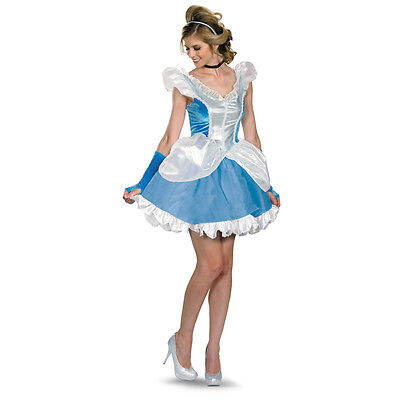Cinderella Deluxe Sassy Disney Adult Costume   Disguise 38840 (Deluxe Disney Costumes Adults)