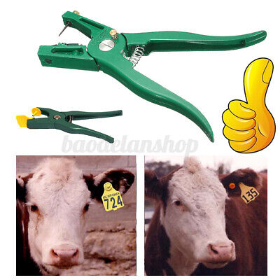 Livestock Cattle Goat Sheep Ear Tag Plier Animal Tags Lables Marking Plier Tool