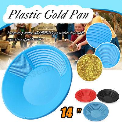 14'' Plástico Oro Pan Nugget Mining Dragado Prospección de Río Batea 5...