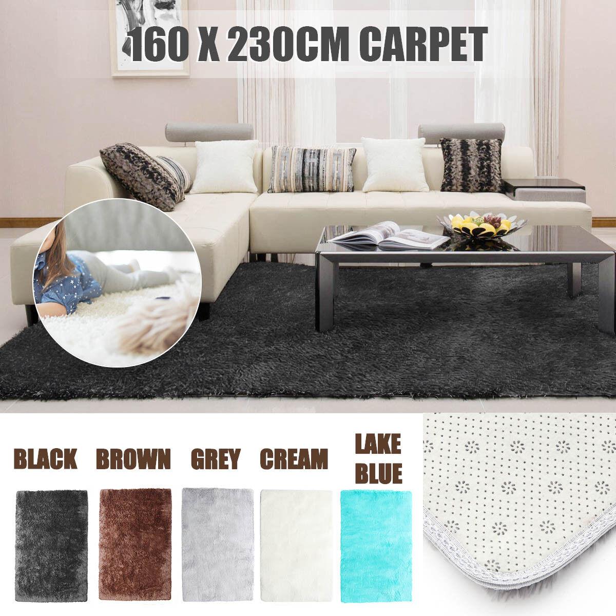New Modern Designer Shag Shaggy Area Rug Living Room Carpet