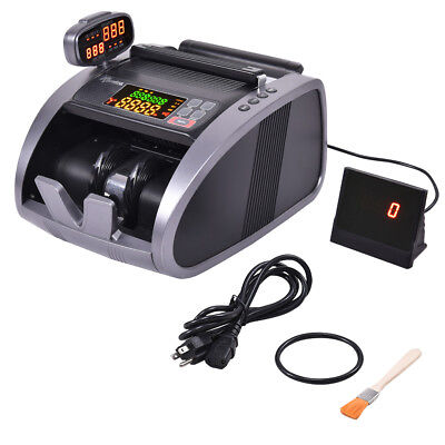 Cash Currency Money Counter Automatic Machine Counterfeit Bill Detector Uv Ir Mg