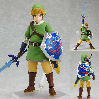 The Legend Of Zelda Skyward Sword Link 6 Action Figure Pvc Model Figma Gift