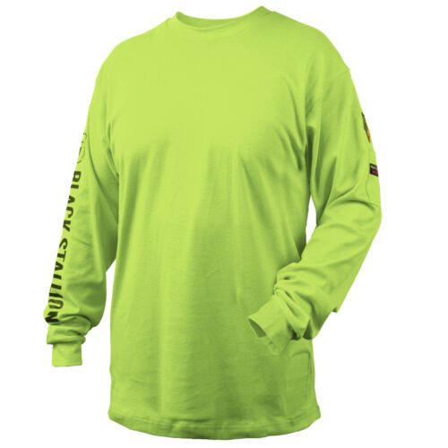 Revco Black Stallion Lime 7 oz. FR Cotton Knit Long-Sleeve T-Shirt Size 2XL