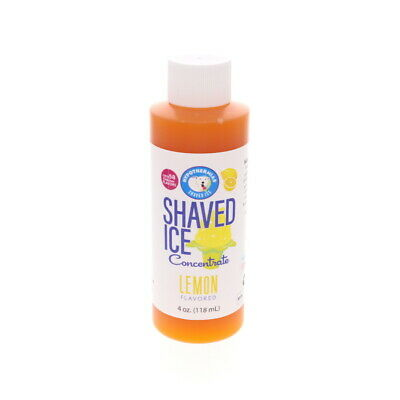 Lemon Hawaiian Shaved Ice And Snow Cone Unsweetened Flavor Concentrate 4 Fl Oz
