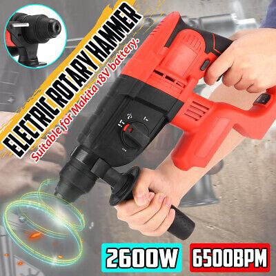 2600w Cordless Electric Rotary Hammer Drill Brushless 6500 Bpm For Makita 18v