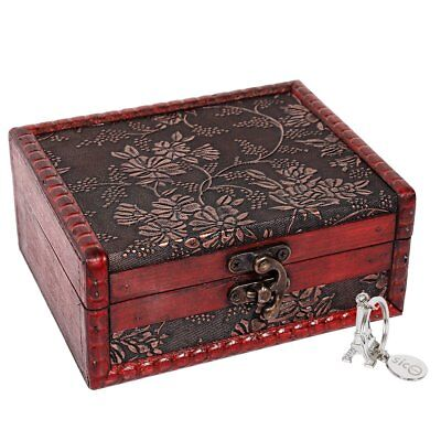Small Vintage Jewelry Box Home Decor Wooden Treasure Chest Tarot Cards Gift Case - Small Wooden Chest