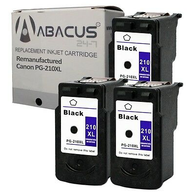 Abacus24-7 3 Black Pg-210 Xl High-yield Ink Cartridge For...