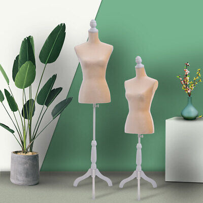 Female Mannequin Torso Clothing Dress Form Shop Display With Whitetripod Stand