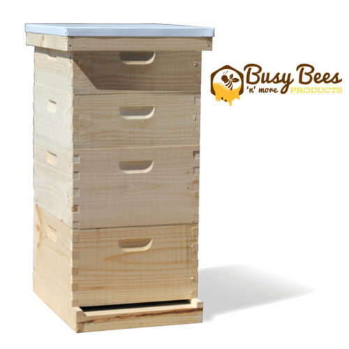 Complete Langstroth Bee Hive 10 Frame 2 Deep Boxes 2 Medium Boxes Free Shipping