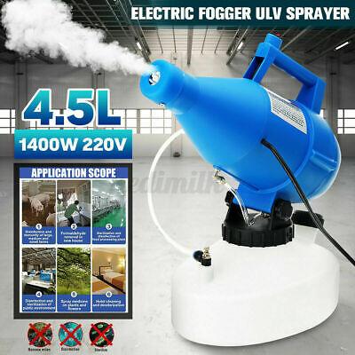 4.5L Electric ULV Fogger Ultra-Low Volume Atomizer Sprayer Fine Mist 220V O6U0