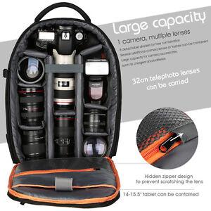 Wasserdicht DSLR Fotorucksack Fototasche Tasche Rucksack für Nikon Canon Sony