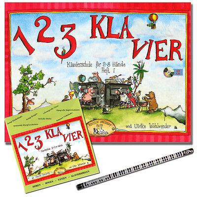 1 2 3 KLAVIER Heft 1 - Klavierschule mit CD - EB8619 - 9790004179789