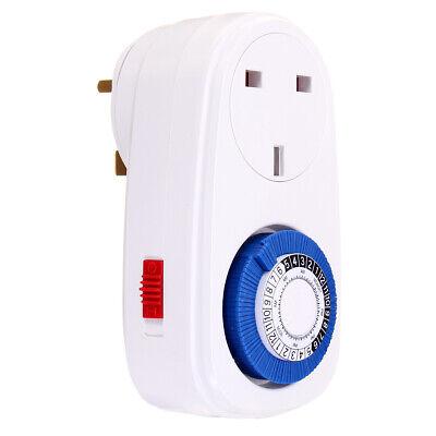 24 Hour Plug-in Mechanical Timer 16a Grounded Plug Timer Switch Socket Uk 220v-2