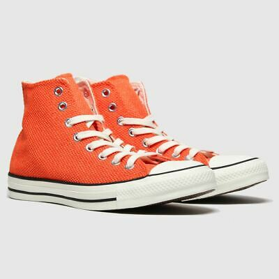 CONVERSE ORANGE ALL STAR BREATHABLE HI TRAINERS SIZE 12