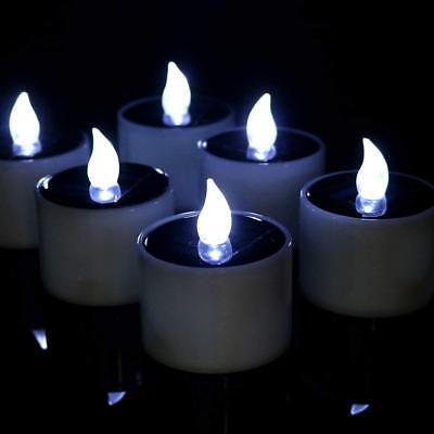 Flickering Solar LED Tea Lights Flameless Electric Fake Candles for Wedding Vase