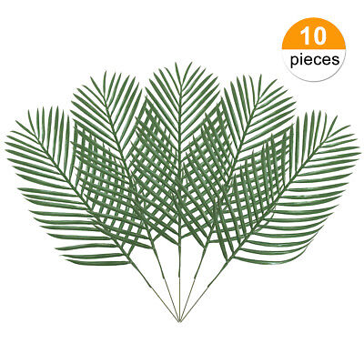 10pcs Artificial Palm Tree Faux Leaves Green Plants Greenery for Home Decoration](Fake Palm Leaves)