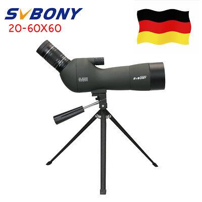 SVBONY SV-29 Wasserdicht Abgewinkelt 20-60x60mm BAK4 IP68 Spektive+Tracking DE
