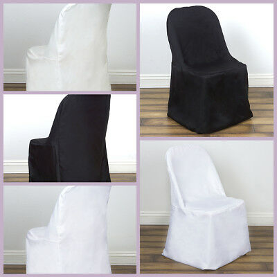 Polyester Folding Flat Banquet CHAIR COVERS Wedding Party Supplies Wholesale](Banquet Supplies)