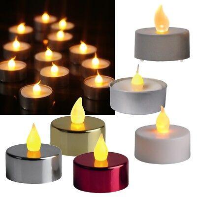 2er Set LED Teelichter flackernd, mit flackernder LED Teelicht Kerze Kerzen Leds