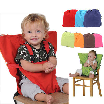 Portable High Chair Cover - Baby Safety High Chair Feeding Seat Infant Portable Dining Travel Belt Cover US