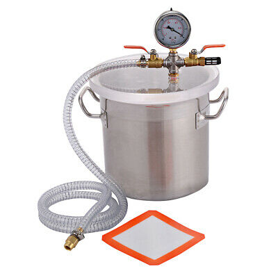 New 2 Gallon Vacuum Chamber Stainless Steel Degassing Silicone Kit