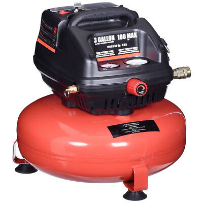3 Gallon 100 Psi Oil-free Pancake Air Compressor 0.5 Hp Motor Portable New