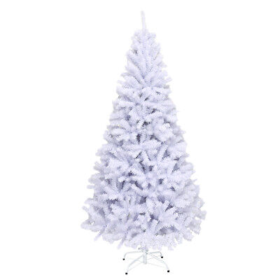 6Ft Hinged Artificial Christmas Tree Premium Pine 1000 Tips w/Metal Stand Decor ()