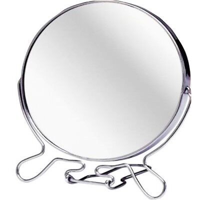 "5"" ROUND COSMETIC MIRROR Small Travel Two Sided Folding Magnify Make Up Shave"