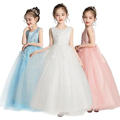 Flower Girl Princess Dress Kid Wedding Bridesmaid Party Prom Formal Long Dresses](Flower Girl Long Dresses)