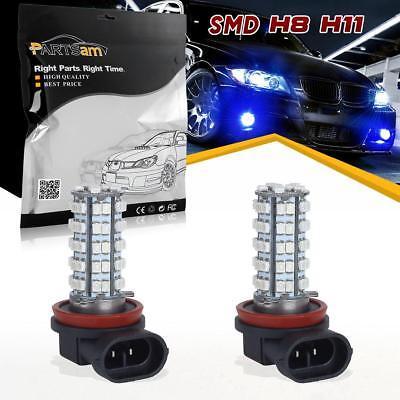 2x H8 H11 Ultra Blue Off-road 68 3528 LED SMD Fog Light Driving Lamp Light Bulb
