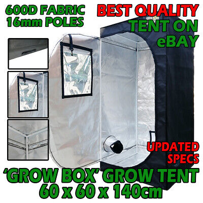 GROW BOX GROW TENT 60 X 60 X 140CM 600D FABRIC + DIAMOND DIFFUSION
