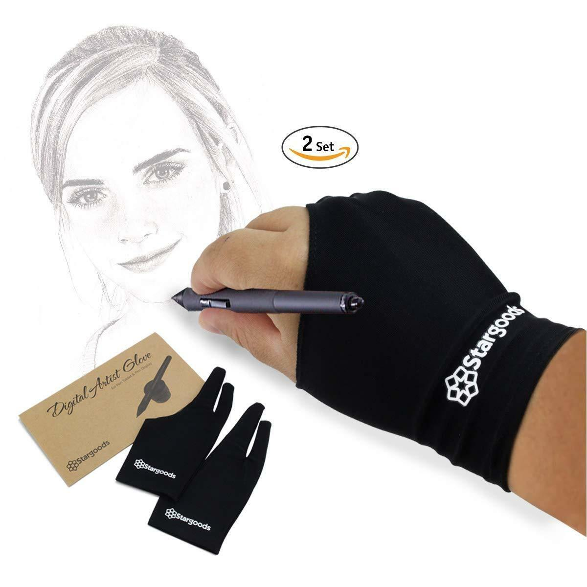 Digital Artist Drawing Glove Grafic Tablet Left Right Hand A